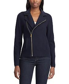 Lauren Ralph Lauren Sweater Moto Jacket