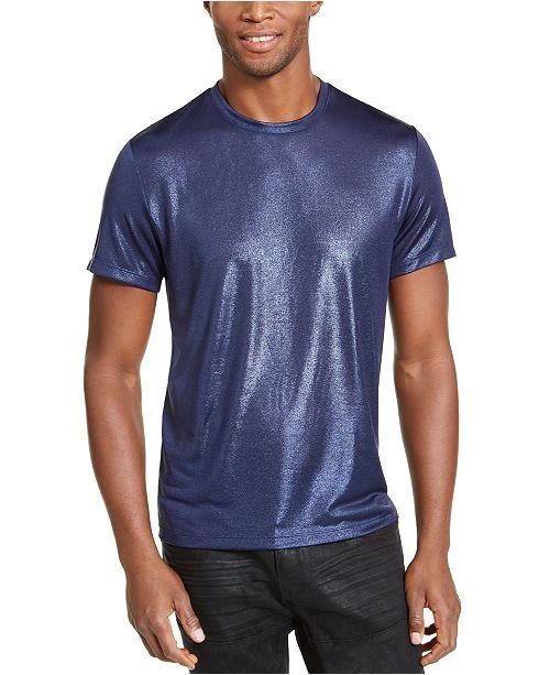 INC International Concepts INC ONYX Men's Metallic T-Shirt, Created for Macy's
