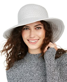 Nine West Braid Yarn Downbrim Floppy Hat