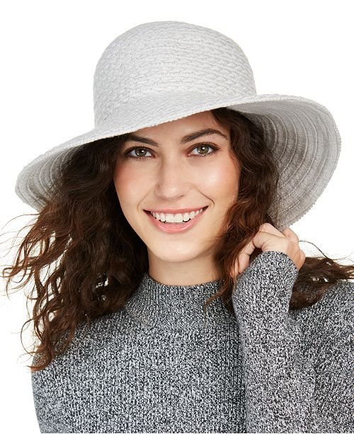 Nine West Braid Yarn Downbrim Floppy Hat