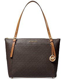 Michael Michael Kors Voyager Large East West Top Leather Zip Tote