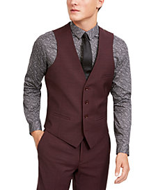 Bar III Men's Slim-Fit Active Stretch Solid Suit Vest, Created for Macy's