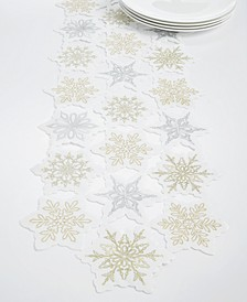 CLOSEOUT! Winter Dream Cutwork Embroidery Runner