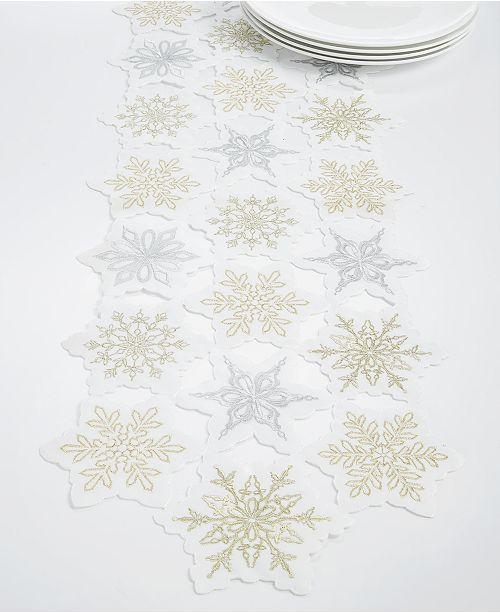 Elrene Winter Dream Cutwork Embroidery Runner