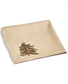 CLOSEOUT! Gold-Tone Jeweled Pine Napkins, Set of 4