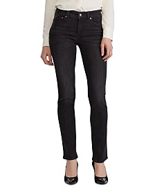 Lauren Ralph Lauren Petite Premier Stretch Straight-Leg Jeans