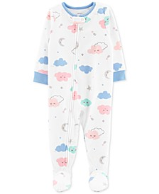 Baby Girls Footed Cloud Pajamas