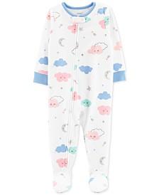 Carter's Baby Girls Footed Cloud Pajamas