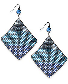 Hematite-Tone Ombre Crystal Drop Earrings, Created for Macy's
