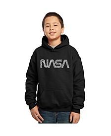 Boy's Word Art Hoodies - Nasa Worm Logo