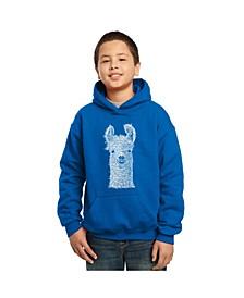 Boy's Word Art Hoodies - Llama