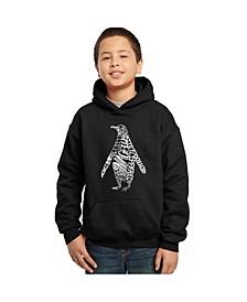 Boy's Word Art Hoodies - Penguin