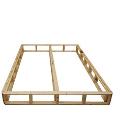 Payton Easy Wood Box Spring or Foundation with Simple Assembly for Mattress, California King