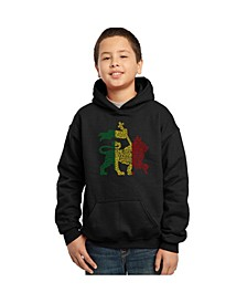 Boy's Word Art Hoodie, One Love