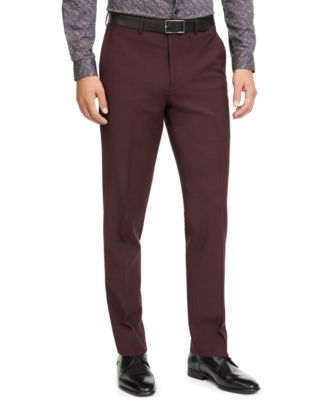 Men's Slim-Fit Active Stretch Solid Suit Pants, Created for Macy's