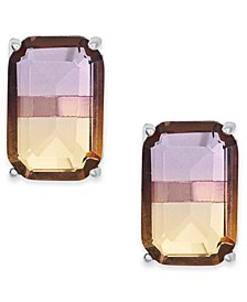 Ombré Crystal Stud Earrings