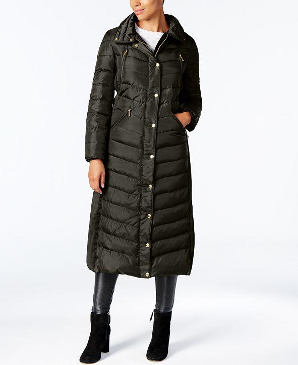 Michael Kors Faux-Fur Trim Hooded Down Coat & Reviews ...