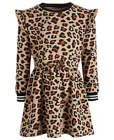 Toddler Girls Leopard-Print Sweatshirt Dress, Created for Macy's