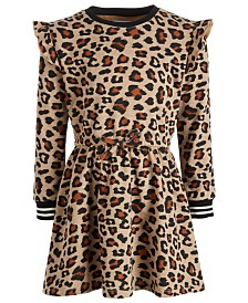 Epic Threads Toddler Girls Leopard-Print Sweatshirt Dress, Created for Macy's
