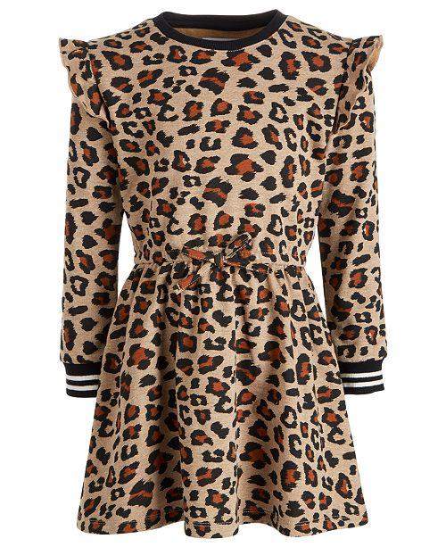 Epic Threads Little Girls Cheetah-Print Sweatshirt Dress, Created for Macy's