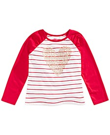 Toddler Girls Heart Stripe T-Shirt, Created for Macy's