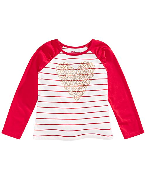 Epic Threads Toddler Girls Heart Stripe T-Shirt, Created for Macy's