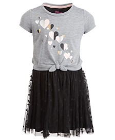 Epic Threads Little Girls Hearts Tie-Front Dress, Created for Macy's