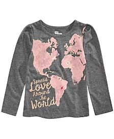 Epic Threads Toddler Girls Glitter Love World T-Shirt, Created for Macy's