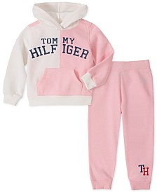 Tommy Hilfiger Little Girls 2-Pc. Fleece Hoodie & Jogger Pants Set