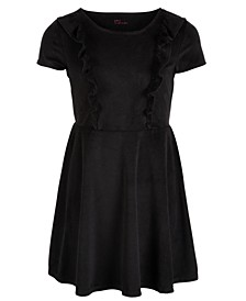 Big Girls Ruffle-Trim Velvet Dress, Created for Macy's