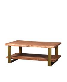 VILLA 2 Artisan Live Edge Double Shelf Coffee Table