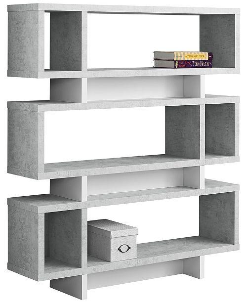 """Monarch Specialties 55""""H Bookcase"""