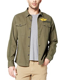 Dockers Men's Military Shirt Jacket