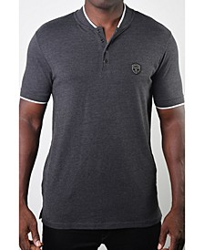 Men's Teddy Collar Metal Button Polo