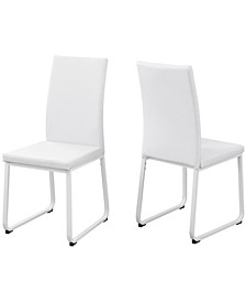 Leather-Look 2 Piece Dining Chair Set