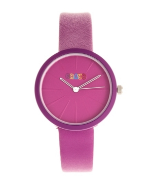 Unisex Blade Purple Leatherette Strap Watch 37mm