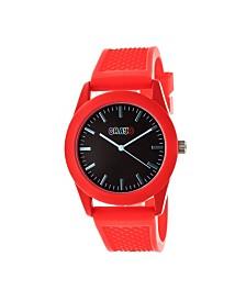 Crayo Unisex Storm Red Silicone Strap Watch 40mm