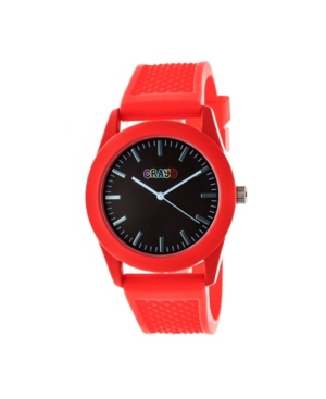 Unisex Storm Red Silicone Strap Watch 40mm