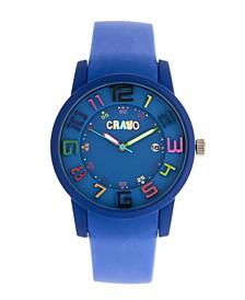 Unisex Festival Blue Silicone Strap Watch 41mm