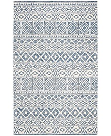 Theresa LRL6650A Ivory and Blue 4' X 6' Area Rug