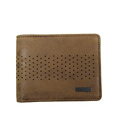 Men's Washed Semi Perforated Wallet