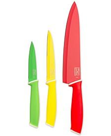 Vivid Colors 3-Pc. Cutlery Set