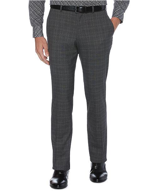 Perry Ellis Men's Slim-Fit Non-Iron Performance Stretch Plaid Dress Pants