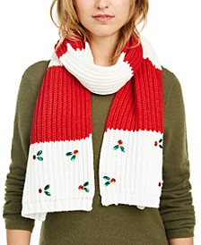 Holly Leaves Muffler Scarf, Created for Macy's