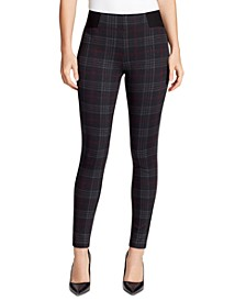 Plaid Ponte-Knit Jeggings