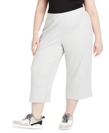 Plus Size Ribbed Culottes, Created For Macy's