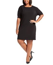 Michael Michael Kors Plus Size Lace-Up Sleeve Dress