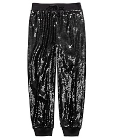 Belle Du Jour Big Girls Sequined Jogger Pants