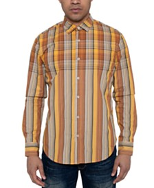 Sean John Men's Oversize Repeat Plaid Shirt