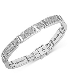 Men's Diamond Multi-Cluster Bracelet (2 ct. t.w.) in Sterling Silver